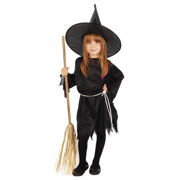 4fa197e31c1f Dětský kostým černá čarodějnice - dětské karnevalové kostýmy